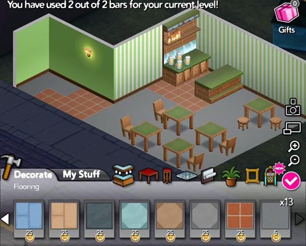 Jogo de criar bares