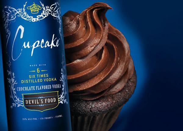 Garrafa da Vodka Cupcake sabor Chocolate