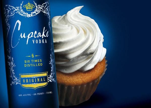 Garrafa da Vodka Cupcake sabor Original