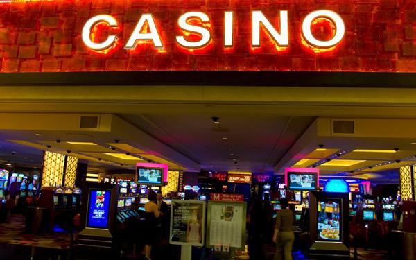 Entrada de um cassino em Las Vegas