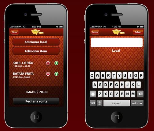 Imagem do Aplicativo pra iPhone do Papo de Bar