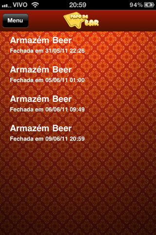 Imagem do Aplicativo pra iPhone do Papo de Bar