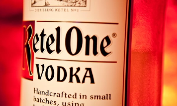 Garrafa da vodka Ketel One
