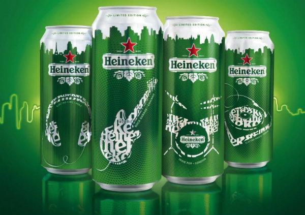 Latas da Heineken Music
