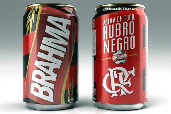 Lata da Brahma pro Flamengo