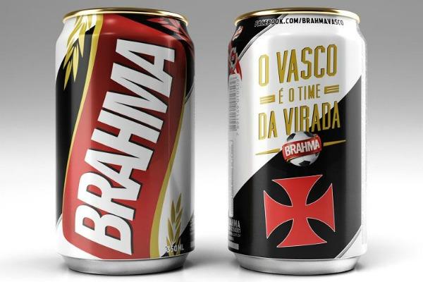 Lata da Brahma pro Vasco