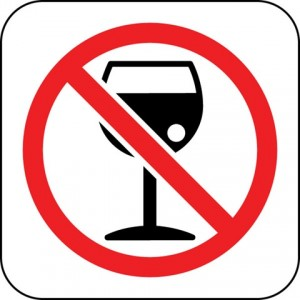 Placa com Proibido beber