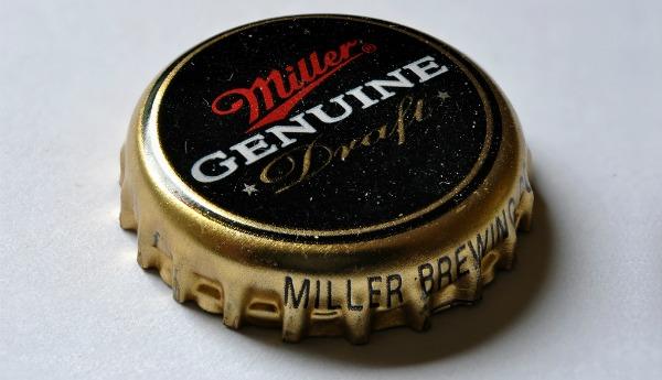 Tampinha da cerveja Miller