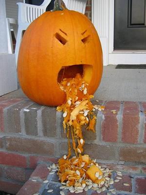 Abóbora vomitando