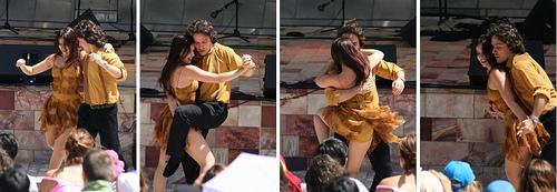Casal dançando