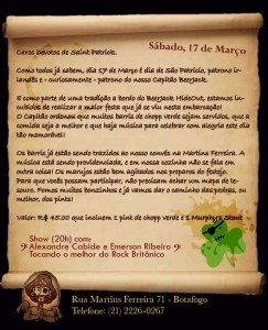 Cartaz St. Patrick's Day