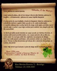 Cartaz St. Patrick's Day