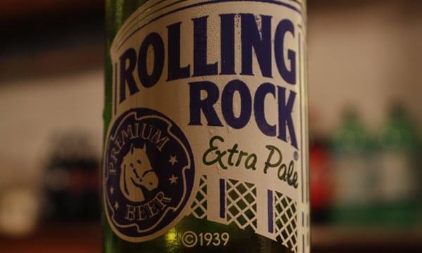 Garrafa da cerveja Rolling Rock