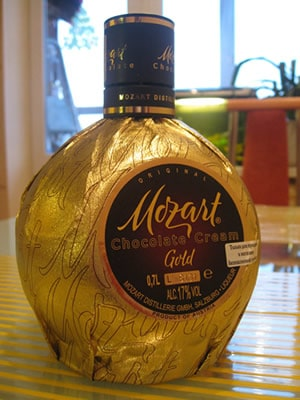 Garrafa do Licor Mozart Gold