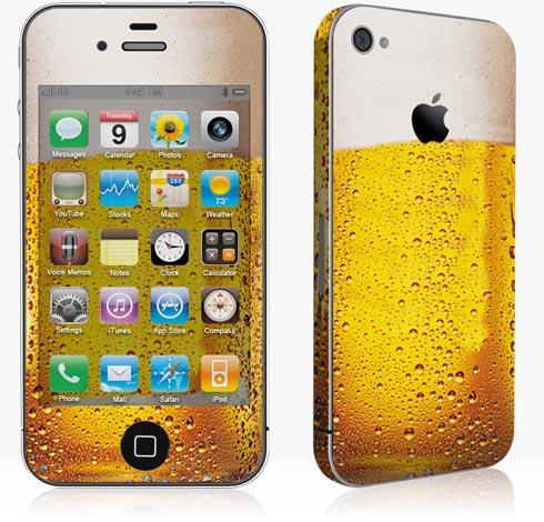 Skin de cerveja pra iPhone 4