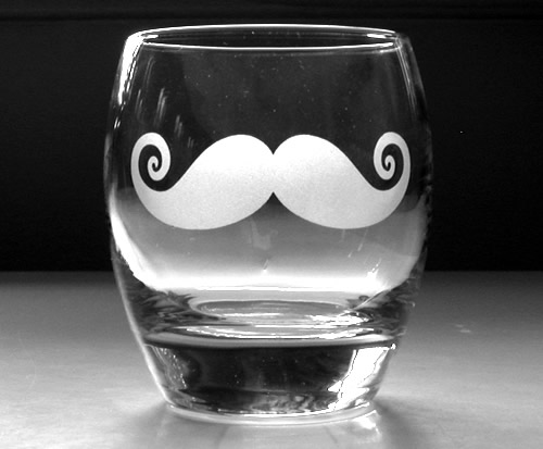 Copo Old Fashioned com bigode