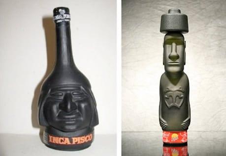 Garrafas de Pisco