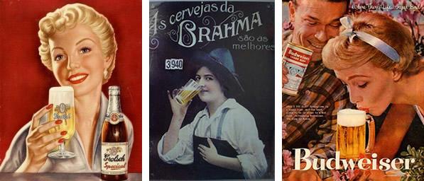 Posters de cerveja com mulheres