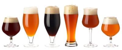 Copos especiais para cerveja