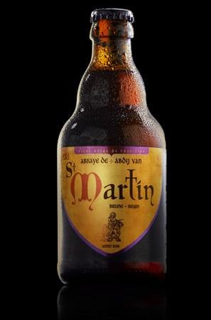Garrafa da cerveja Saint Martin Brune