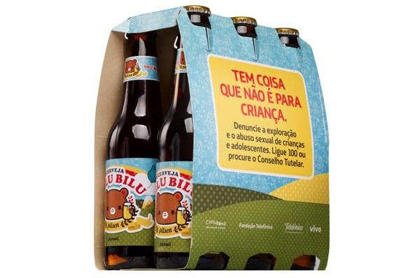 Pack com garrafas da cerveja Bilu Bilu