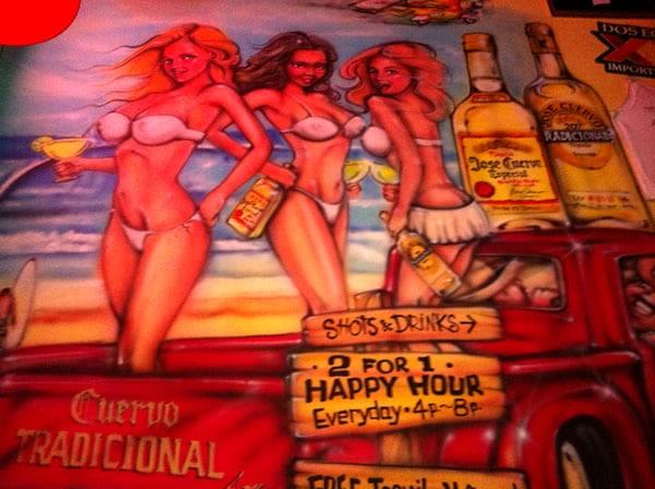 Parede pintada com Jose Cuervo