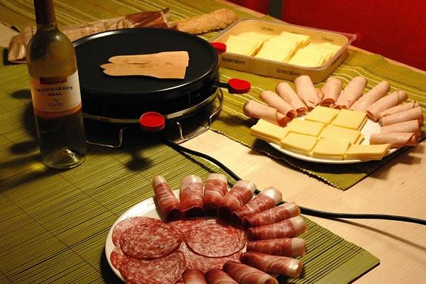 Fondue de Raclettes e vinho
