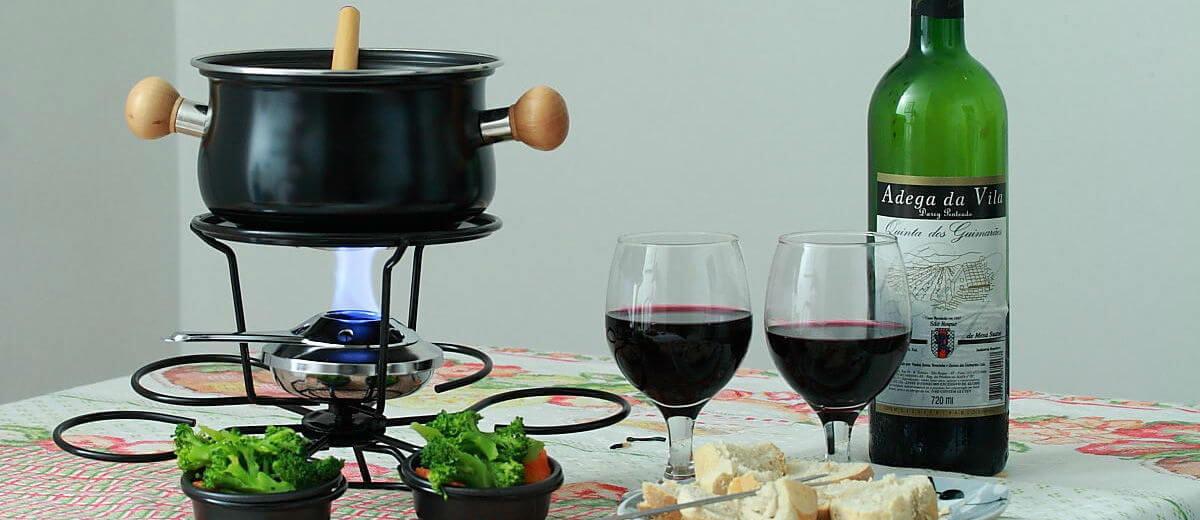 Vinho e fondue