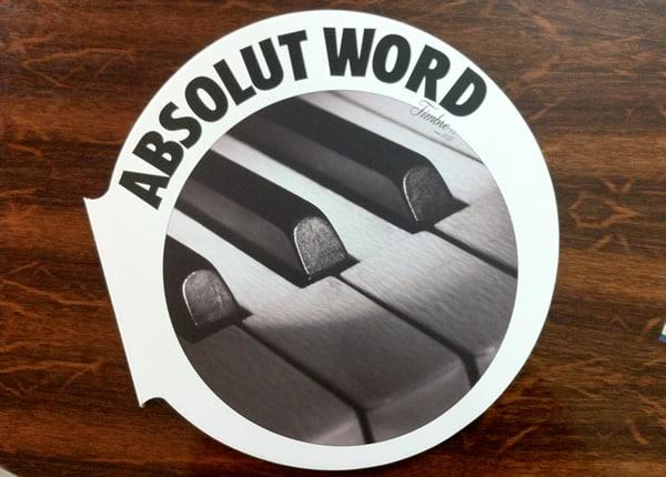 Capa da Absolut Word Audição