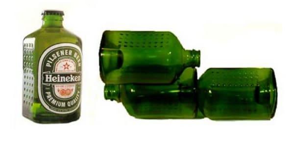 Garrafa tijolo da Heineken