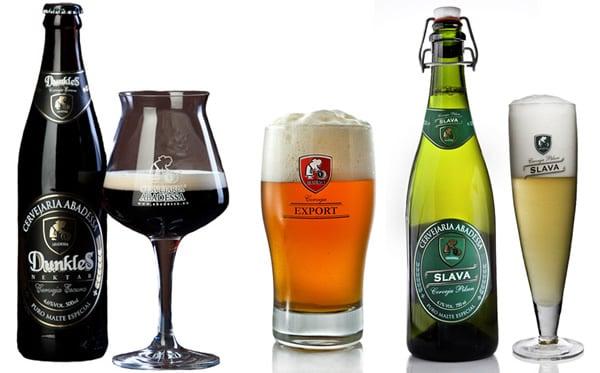 Garrafas da cerveja Abadessa