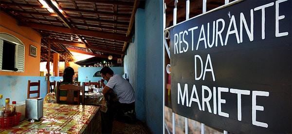 Entrada de um restaurante brasileiro
