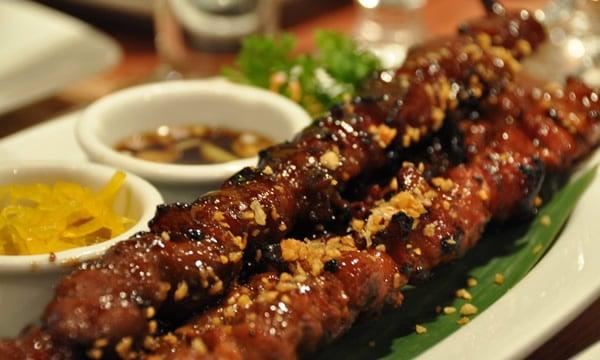 Espeto de carne temperado