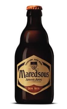 Garrafa da cerveja de Maredsous Brune