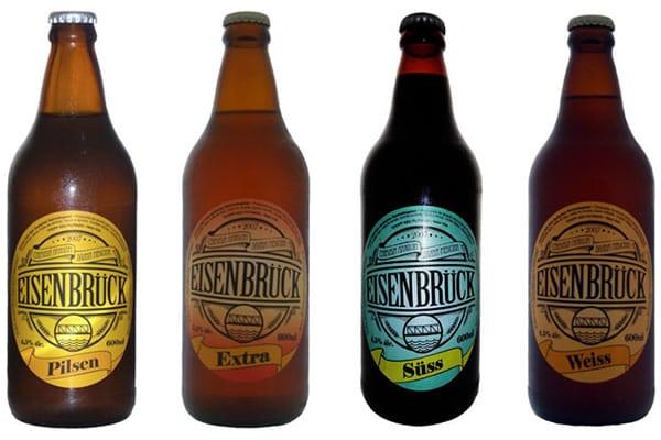Garrafas da cerveja Eisenbruck