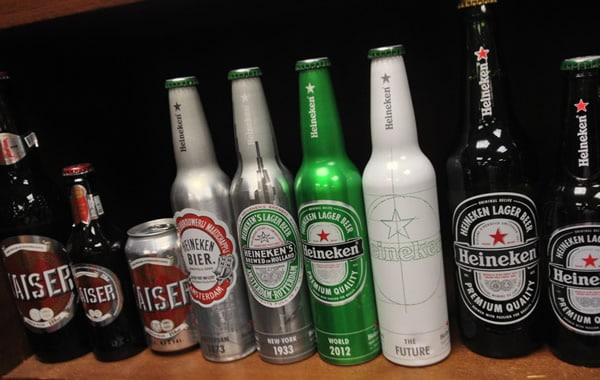 Garrafas da Heineken