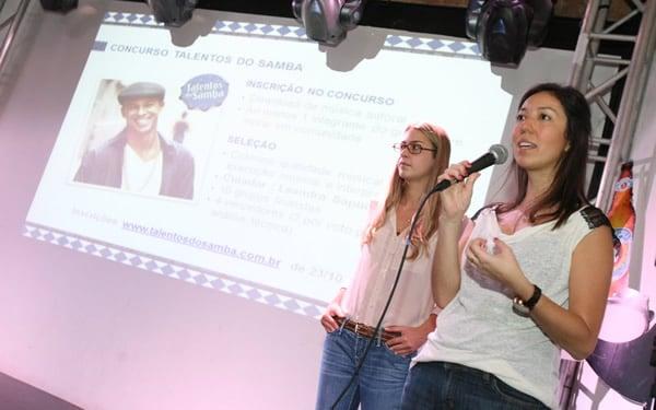 Mulheres apresentando o Concurso da Boa