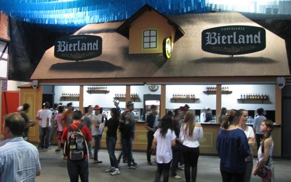 Stand da cervejaria Bierland