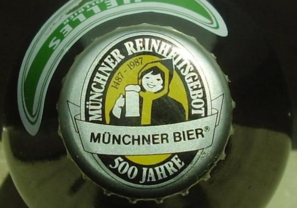 Tampa da cerveja Muenchner da Reinheitsgebot