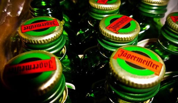 Tampas de garrafas da Jagermeister