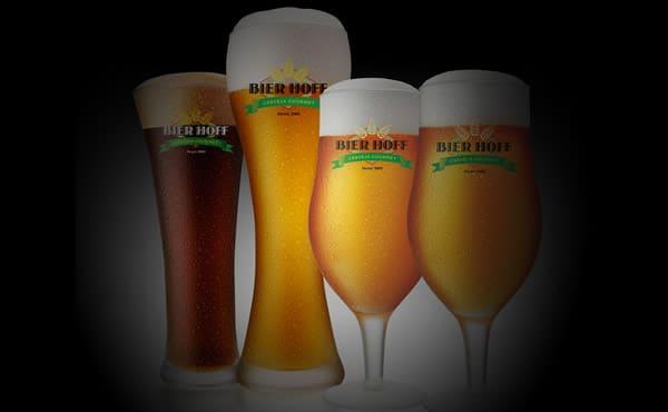 Taças da cerveja Bier Hoff