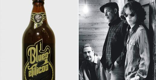 Garrafa da cerveja da banda Blues Etilicos