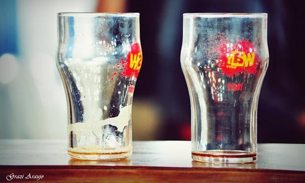 Copos da Way Beer vazios