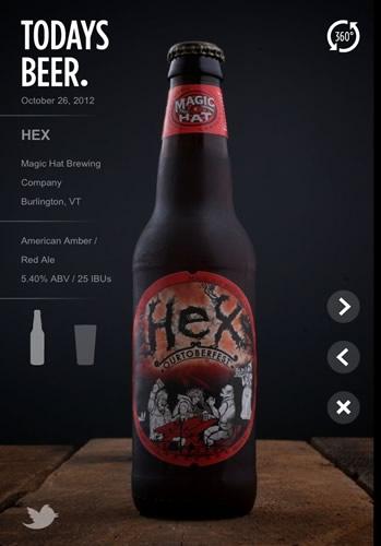 Garrafa da cerveja Hex