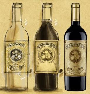 Garrafas dos vinhos Imaginaerum