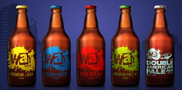 Garrafas da cervejaria Way Beer
