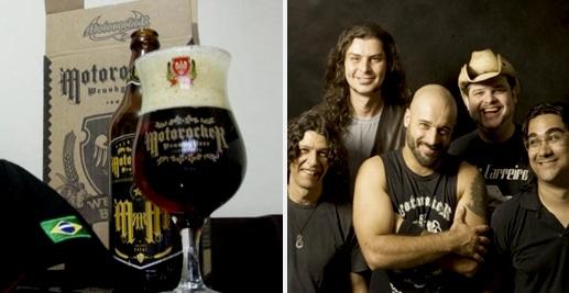 Garrafa da cerveja da banda Motorocker