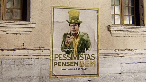 Ronaldo num cartaz grudado na parede