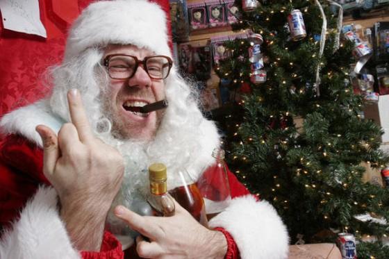 Papai Noel bêbado
