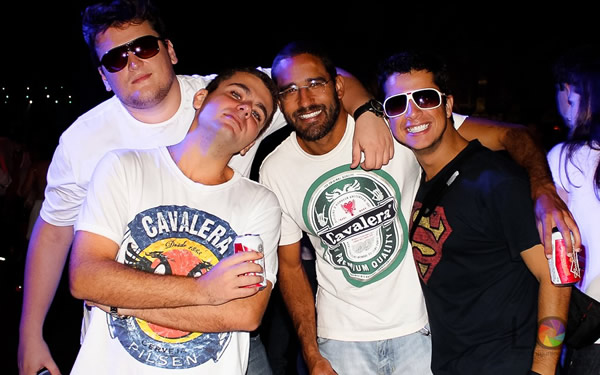 Galera no show do David Guetta